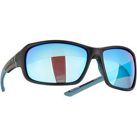 Alpina Lyron Bril, black matt-dirt blue/blue mirror
